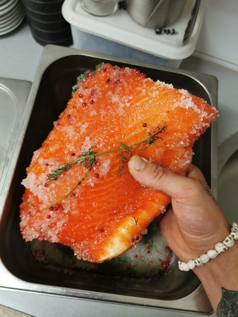 saumon gravlax déssalage