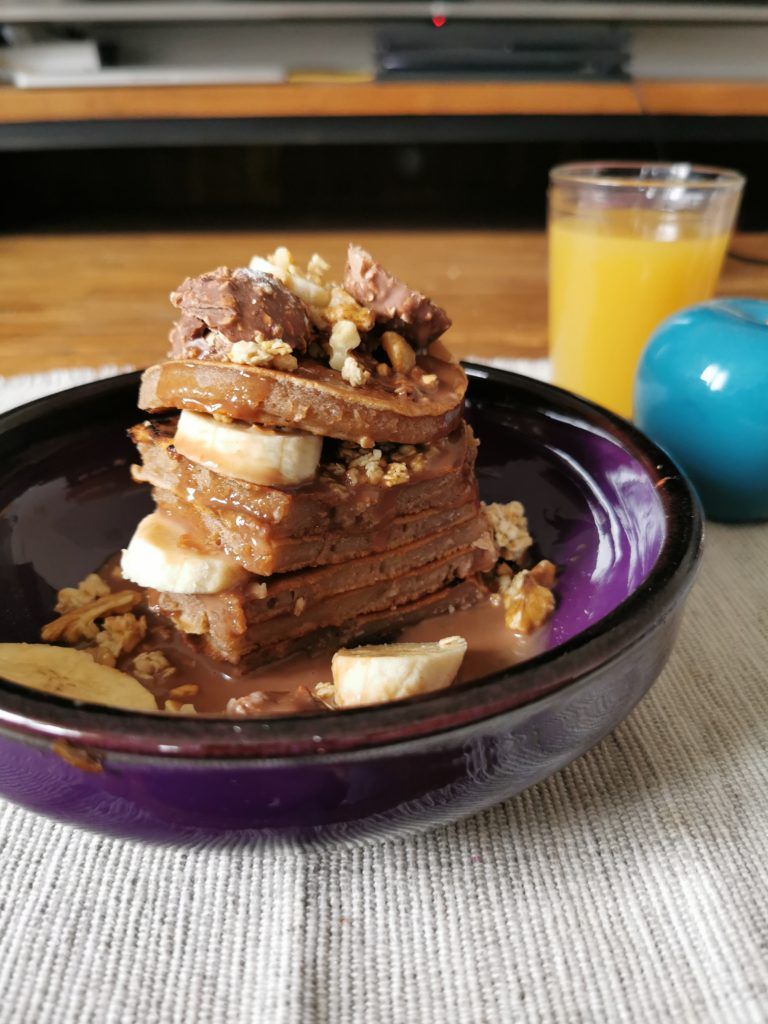 pancakes chocolat praliné